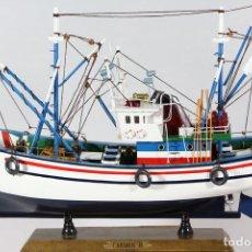 Maquetas - Barco Pesca Maqueta Madera Decoración Carmen 2 Capitán - 89249472