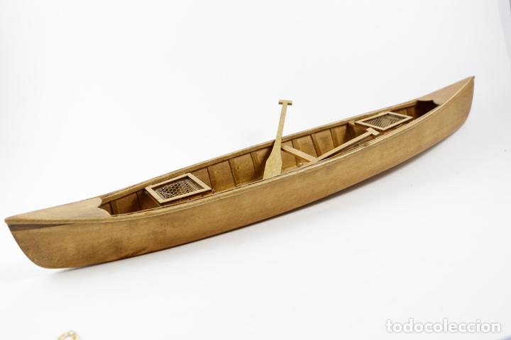 Barco Modelismo 39 Madera Cms Canoa Remos tQrCohxsdB
