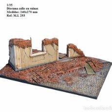 Maquetas: WWII DIORAMA CALLE EN RUINAS 1/35 BUILDING RUINS BASE. Lote 77105027
