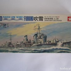 Maquetas: MAQUETA BARCO – JAPAN NAVY DESTROYER FUBUKI ESCALA 1 / 700 MARCA TAMIYA WATER LINE SERIES NO.WLD029. Lote 76988473