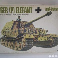 Maquetas: MAQUETA TANQUE TIGER P ELEFANT TANK-HUNTER ESCALA 1 / 35 MARCA ITALAREI N. 211. Lote 77031125