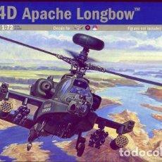 Maquetas: MAQUETA DEL HELICÓPTERO DE ATAQUE AH-64D APACHE LONGBOW DE ITALERI A 1/72. Lote 77865873
