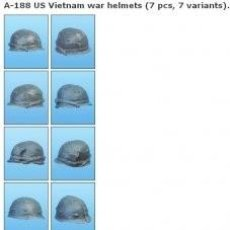 Maquetas: US VIETNAM WAR HELMETS. A-188 TANK 1/35. Lote 78275885