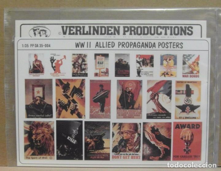 VERLINDEN PRODUCTIONS 35-004 ALLIED PROPAGANDA POSTERS WWII 1/35 (Juguetes - Modelismo y Radiocontrol - Maquetas - Otras Maquetas)