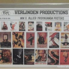 Maquetas: VERLINDEN PRODUCTIONS 35-004 ALLIED PROPAGANDA POSTERS WWII 1/35. Lote 80035069