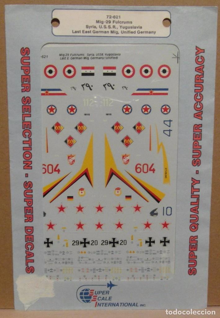 SUPER SCALE INTERNATIONAL 72-621 MIG-29 FULCRUMS 1/72 CALCAS (Juguetes - Modelismo y Radio Control - Maquetas - Aviones y Helicópteros)