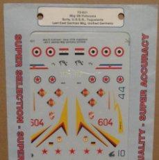 Maquetas: SUPER SCALE INTERNATIONAL 72-621 MIG-29 FULCRUMS 1/72 CALCAS. Lote 80081721