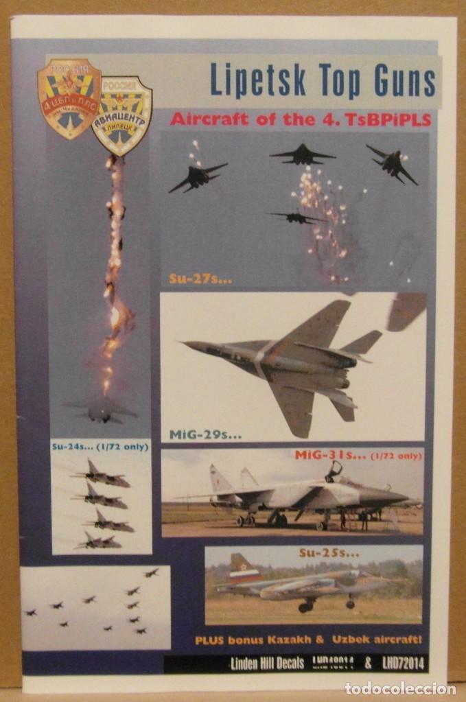 LINDEN HILL DECALS 72014 MIG-29/MIG-31/SU-24/SU-25/SU-27 LIPETSK TOP GUNS 1/72 CALCAS (Juguetes - Modelismo y Radio Control - Maquetas - Aviones y Helicópteros)