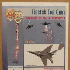 Maquetas: LINDEN HILL DECALS 72014 MIG-29/MIG-31/SU-24/SU-25/SU-27 LIPETSK TOP GUNS 1/72 CALCAS. Lote 80104781
