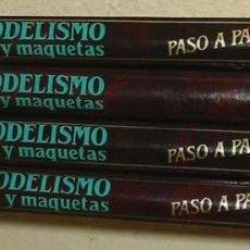 Maquetas: MODELISMO Y MAQUETAS PASO A PASO - 4 TOMOS COMPLETA - HOBBY PRESS 1984. Lote 46104589