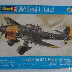 Maquetas: JUNKERS JU-87 B STUKA ESCALA 1/144. REVELL . MAQUETA AVIÓN .. Lote 80643878