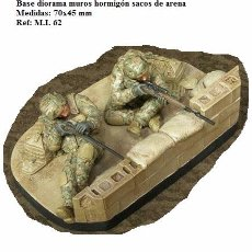 Maquetas: WWII RESINA BASE DIORAMA BLOQUES HORMIGON SACOS ARENA 1/35. Lote 207099635