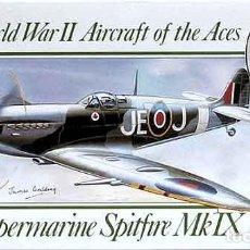 Maquetas: MAQUETA DEL SUPERMARINE SPITFIRE MK IX DEL AS BRITÁNICO E.JOHNSON DE AIRFIX A 1/72. Lote 81962620