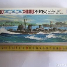 Maquetas: MAQUETA BARCO SHIRANUI JAPAN NAVY DESTROYER ESCALA 1 / 700 MARCA AOSHIMA WATER LINE SERIES NOWL.D057. Lote 82027096