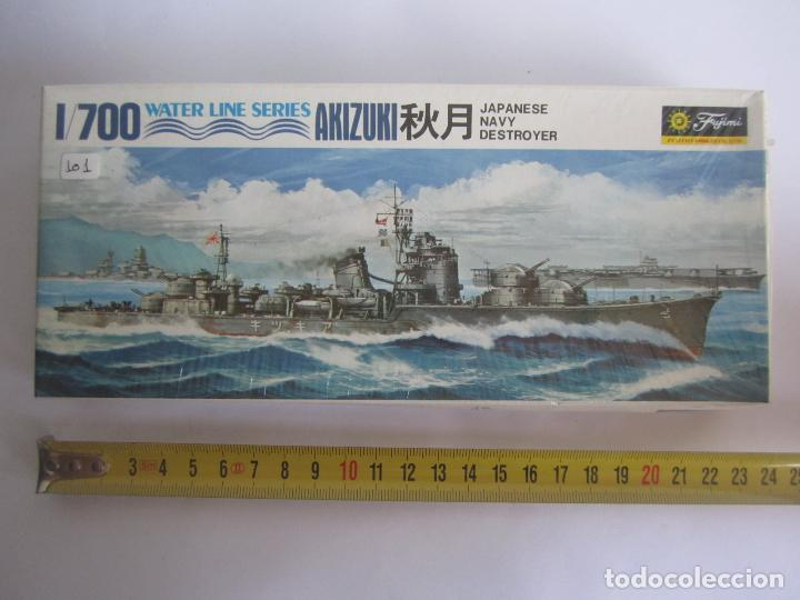 MAQUETA BARCO AKIZUKI JAPAN NAVY DESTROYER ESCALA 1 / 700 MARCA AOSHIMA WATER LINE SERIES NOWL.D036 (Juguetes - Modelismo y Radiocontrol - Maquetas - Barcos)