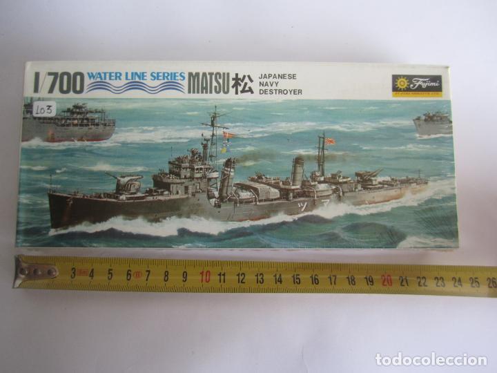 MAQUETA BARCO MATSU JAPAN NAVY DESTROYER ESCALA 1 / 700 MARCA AOSHIMA WATER LINE SERIES NOWL.D037 20 (Juguetes - Modelismo y Radiocontrol - Maquetas - Barcos)