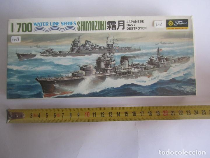MAQUETA BARCO SHIMOZUKI JAPAN NAVY DESTROYER ESCALA 1 / 700 MARCA AOSHIMA WATER LINE SERIES NOWLD044 (Juguetes - Modelismo y Radiocontrol - Maquetas - Barcos)