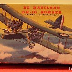 Maquetas: DE HAVILLAND DH-10 BOMBER. AURORA 1957. Lote 204202387