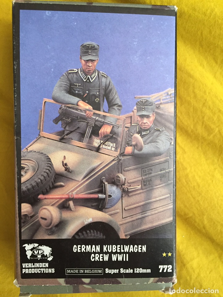 Germán kubelwagen crew 1:15 120 mm verlinden 77 - Sold through