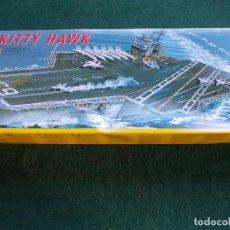 Maquetas: MAQUETA NAVAL ESCALA 1:720 MARCA ITALERI U.S.S. KITTY HAWK. Lote 82527416