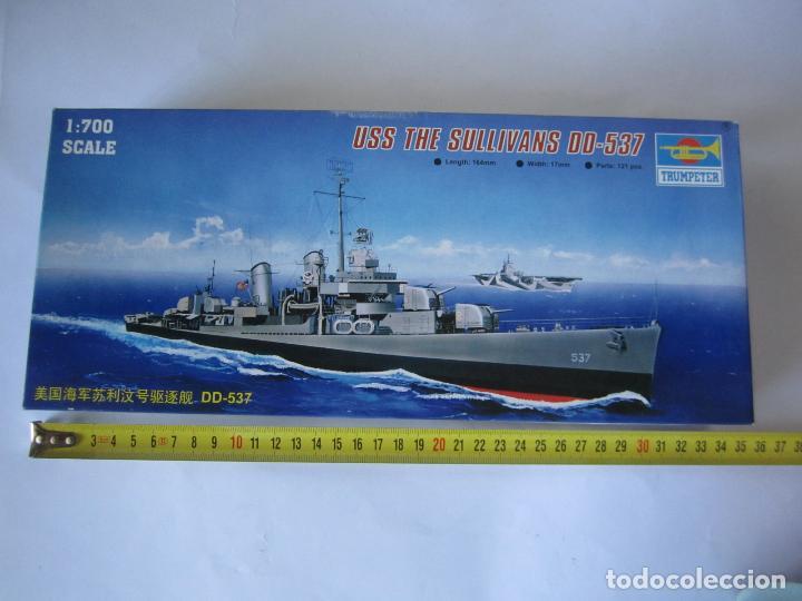 MAQUETA BARCO USS THE SULLIVANS DD 537 ESCALA 1/700 MARCA TRUMPETER WATER LINE SERIE NO. 05731 (Juguetes - Modelismo y Radiocontrol - Maquetas - Barcos)