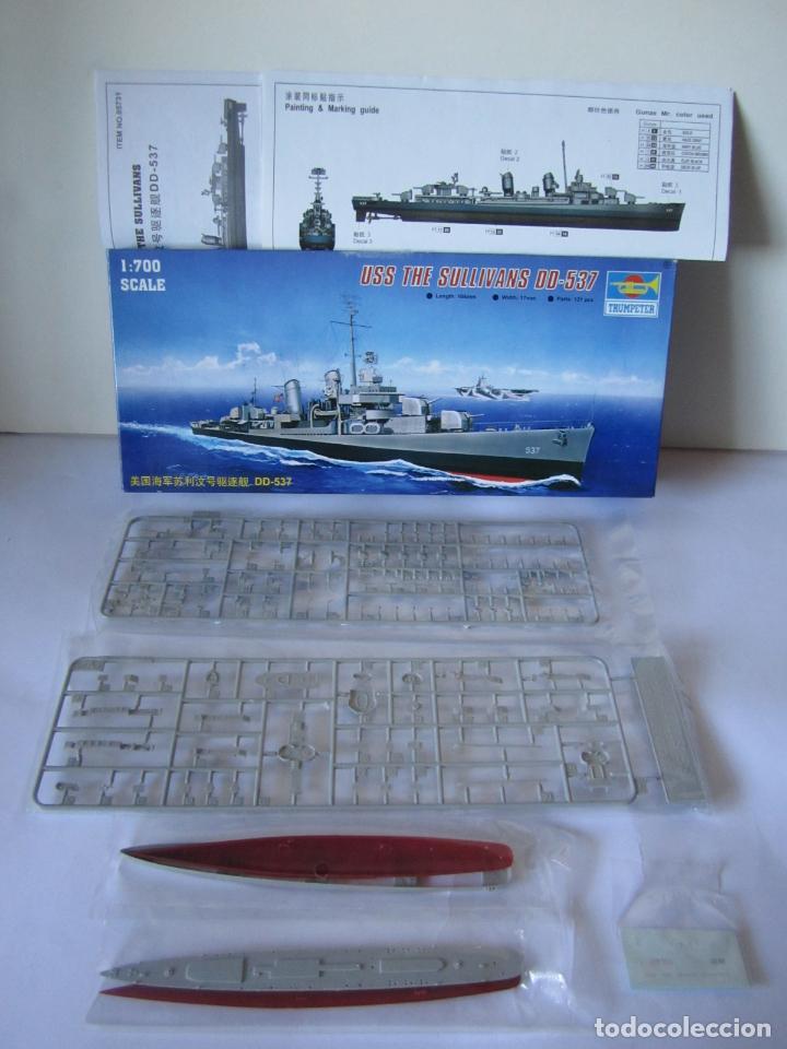 Maquetas: MAQUETA BARCO USS THE SULLIVANS DD 537 ESCALA 1/700 MARCA TRUMPETER WATER LINE SERIE NO. 05731 - Foto 2 - 82622528