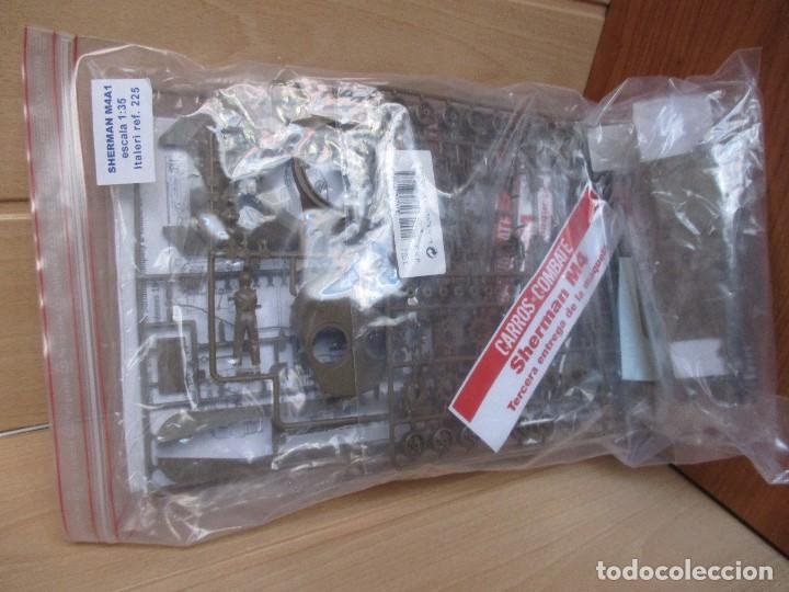 Maquetas: ITALERI REF. 225: MAQUETA EN ESCALA 1/35 DE CARRO DE COMBATE SHERMAN M4A1 - Foto 3 - 83072132