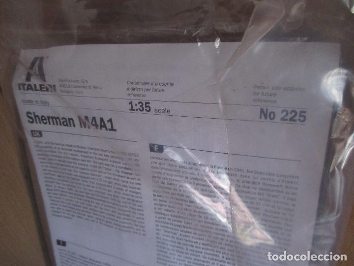 Maquetas: ITALERI REF. 225: MAQUETA EN ESCALA 1/35 DE CARRO DE COMBATE SHERMAN M4A1 - Foto 4 - 83072132