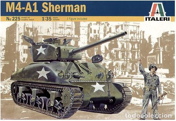 Maquetas: ITALERI REF. 225: MAQUETA EN ESCALA 1/35 DE CARRO DE COMBATE SHERMAN M4A1 - Foto 5 - 83072132
