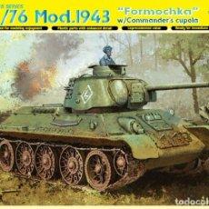 Maquetas: KIT MAQUETA 1/35 TANQUE RUSO T-34/76 1943 FORMOCHKA. DRAGON 6603. NUEVO. . Lote 158561818