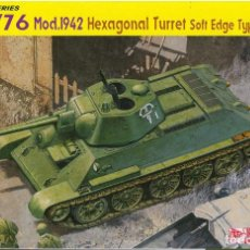 Maquetas: KIT MAQUETA 1/35 TANQUE RUSO T-34/76 1942 HEXAGONAL TURRET. DRAGON 6424. NUEVO. . Lote 83372640