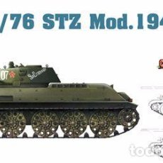 Maquetas: KIT MAQUETA 1/35 TANQUE RUSO T-34/76 STZ 1942. DRAGON CYBER HOBBY 6388. NUEVO. . Lote 83373296
