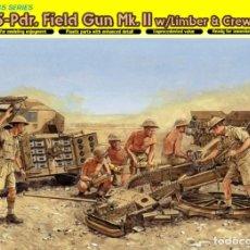 Maquetas: KIT MAQUETA 1/35 25 PDR FIELD GUN MK.III WITH LIMBER & CREW. DRAGON 6392. NUEVO. . Lote 83466564