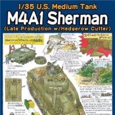 Maquetas: KIT MAQUETA 1/35 SHERMAN M4A1 US MEDIUM TANK WITH HEDGEROW CUTTER. TASCA ASUKA 35022. NUEVO. Lote 275916198