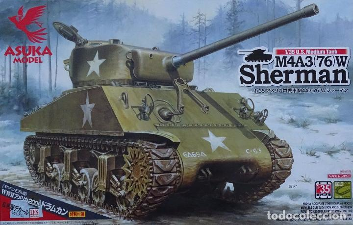 KIT MAQUETA 1/35 SHERMAN M4A3 76 (W) US MEDIUM TANK  TASCA ASUKA 35019   NUEVO
