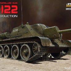 Maquetas: KIT MAQUETA 1/35 SU 122 INITIAL PRODUCTION. RUSSIAN TANK. MINIART 35175. NUEVO. . Lote 83503808