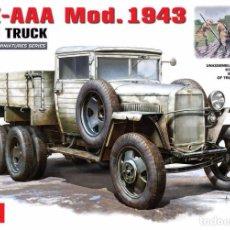 Maquetas: KIT MAQUETA 1/35 GAZ AAA 1943 RUSSIAN CARGO TRUCK. MINIART 35133. NUEVO. . Lote 135209506