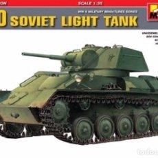 Maquetas: KIT MAQUETA 1/35 T-80 RUSSIAN LIGHT TANK. MINIART 35117. NUEVO.. Lote 83505372