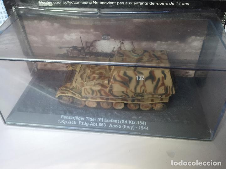 Maquetas: panzer tiger elefant miniatura de gran calidad con vitrina SIN ESTRENAR - Foto 2 - 83880464