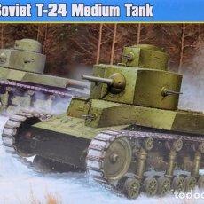 Maquetas: HOBBY BOSS - SOVIET T-24 MEDIUN TANK 82493 1/35. Lote 84219192