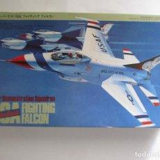 Maquetas: MAQUETA AVIÓN USAF AIR DEMONSTRATION SQUADRON F 16 A FIGHTING FALCON ESCALA 1 / 48 HASEGAWA N. V002. Lote 186354540