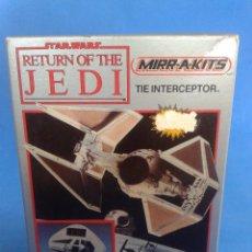 Maquetas: STAR WARS VINTAGE TIE INTERCEPTOR MAQUETA MIRR-A-KITS MPC 1984 (NUEVO EN CAJA) RAREZA. Lote 85490500