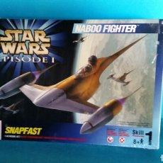 Maquetas: STAR WARS NABOO FIGHTER MAQUETA NUEVA PRECINTADA . Lote 85878490