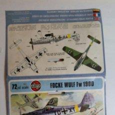 Maquetas: AIRFIX FOCKE WULF FW 190D SCALE 72. Lote 85987852