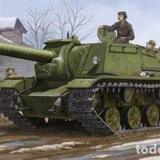 Maquetas: KIT MAQUETA 1/35 SOVIET SU-152 SELF PROPELLED HEAVY HOWITZER. TRUMPETER 01571. NUEVO.. Lote 87571336
