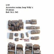Maquetas: 1/35 KIT RESINA WILLY'S JEEP 10 PIEZAS WW2 ACCESORIOS ESTIBA DIORAMA. Lote 174257119