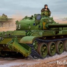 Maquetas: KIT MAQUETA 1/35 RUSSIAN T-62 1975 WITH KMT-6 MINE PLOW. TRUMPETER 01550. NUEVO.. Lote 87573284