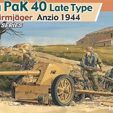 Maquetas: KIT MAQUETA 1/35 7,5CM PAK 40 LATE WITH FALLSCHIRMJÄGER. DRAGON 6250. NUEVO. . Lote 87579552
