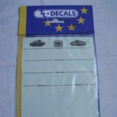 Maquetas: CALCAS - CALCOMANIAS PARA ESCALA 1/87 PARA VEHICULOS ALEMANES DE LA 2º GUERRA MUNDIAL TL-DECALS 1. Lote 88802160