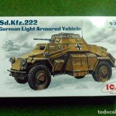 Maquetas: SD.KFZ. 222 GERMAN LIGHT ARMORED VEHICLE - ICM - 1/72 - 72411. Lote 88807412